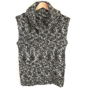Ann Taylor Sweater Vest Wool Cowl Neck Size Small